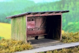Wooden Passenger Shelter (kit) 1:120