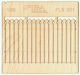Wooden fence 1:35  - type 1