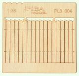 Wooden fence 1:35 - type 4