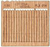 Wooden fence 1:35 - type 14