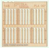 Wooden fence 1:48 - type 7