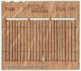 Wooden fence 1:48 - type 11