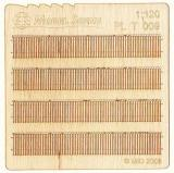Wooden fence 1:120 - type 9