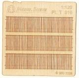 Wooden fence 1:120 - type 10