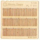 Wooden fence 1:120 - type 11