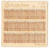 Wooden fence 1:120 - type 15