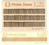 Wooden fence 1:160 - type 3