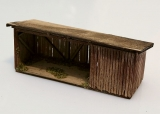 Wooden shed - brown 1:160