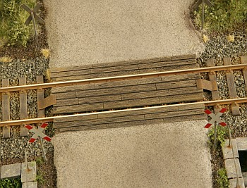 Wooden rail crossing 1:87