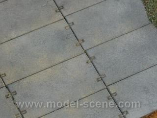 Concrete panels 1:120 - type II. (25,5 x 12,5mm)