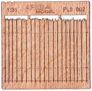 Wooden fence 1:35 - type 2