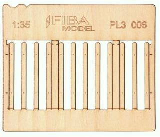 Wooden fence 1:35 - type 6