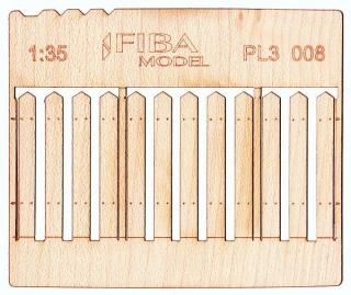 Wooden fence 1:35 - type 8