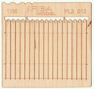 Wooden fence 1:35 - type 12