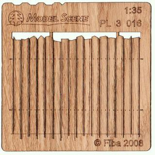 Wooden fence 1:35 - type 16