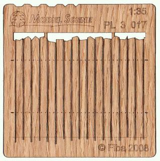 Wooden fence 1:35 - type 17