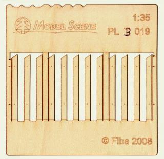 Wooden fence 1:35 - type 19