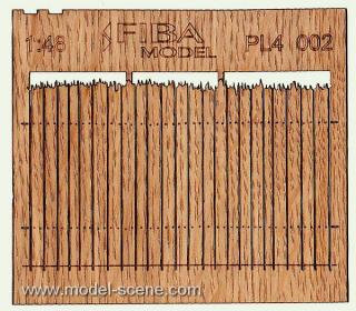 Wooden fence 1:48 - type 2
