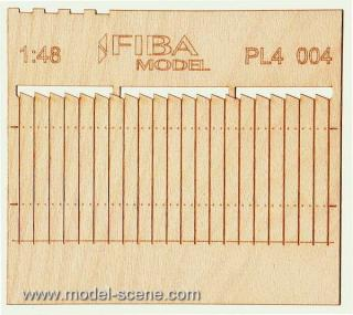 Wooden fence 1:48 - type 4
