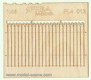 Wooden fence 1:48 - type 13