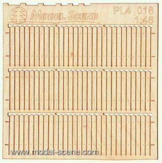 Wooden fence 1:48 - type 18