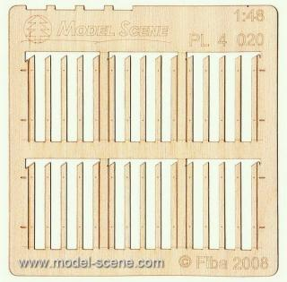 Wooden fence 1:48 - type 20