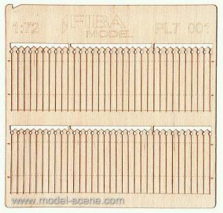 Wooden fence 1:72 - type 1