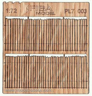 Wooden fence 1:72 - type 3