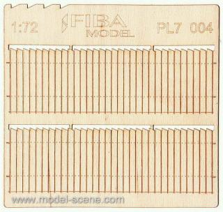 Wooden fence 1:72 - type 4