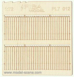 Wooden fence 1:72 - type 12