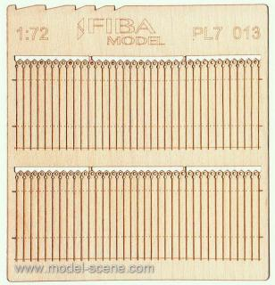 Wooden fence 1:72 - type 13