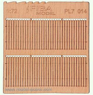Wooden fence 1:72 - type 14