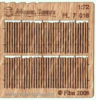 Wooden fence 1:72 - type 16