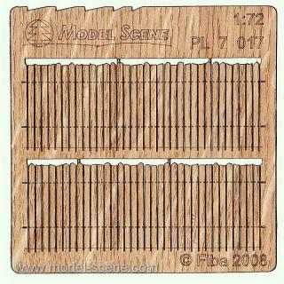 Wooden fence 1:72 - type 17