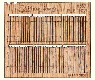 Wooden fence 1:87 - type 2