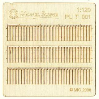 Wooden fence 1:120 - type 1