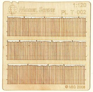 Wooden fence 1:120 - type 2
