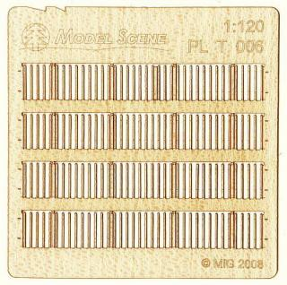 Wooden fence 1:120 - type 6