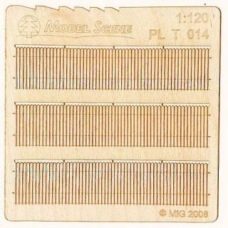 Wooden fence 1:120 - type 14
