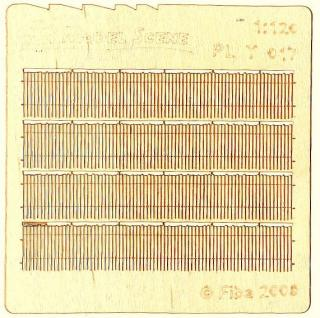 Wooden fence 1:120 - type 17