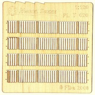 Wooden fence 1:120 - type 20