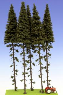 Spruce with trunk 300 mm (5x)