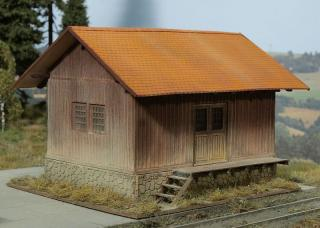 Wooden railway storage 1:87 (kit)