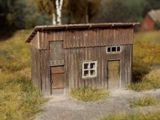 Wooden shed  1:87 (kit)
