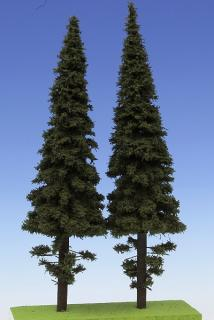 Spruce with short trunk 250 mm (2x)